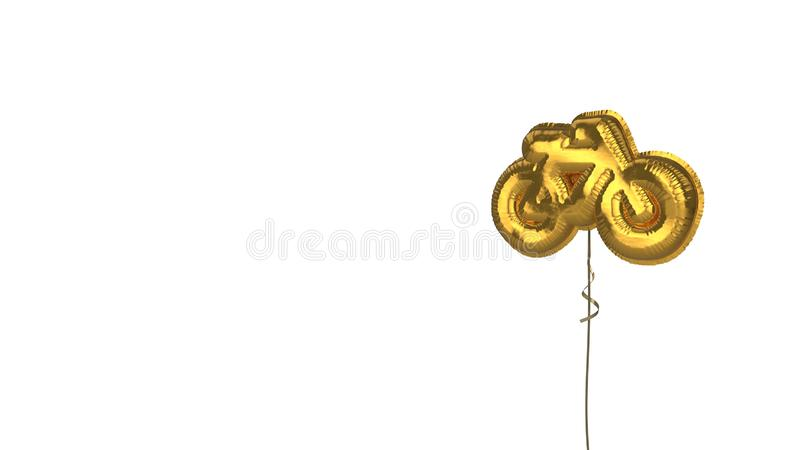 gold balloon symbol of bicycle without rider on white background royalty free illustration