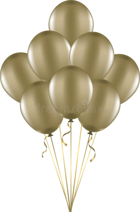 Download Gold Balloons Royalty Free Stock Image - Image: 26504926