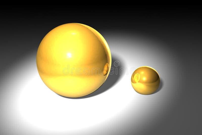 Gold balls royalty free stock photo