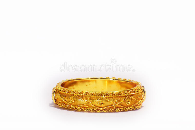 Gold bangle royalty free stock image
