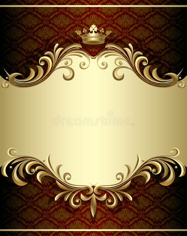 Download Gold banner stock vector. Image of crown, clip, antique - 10611177