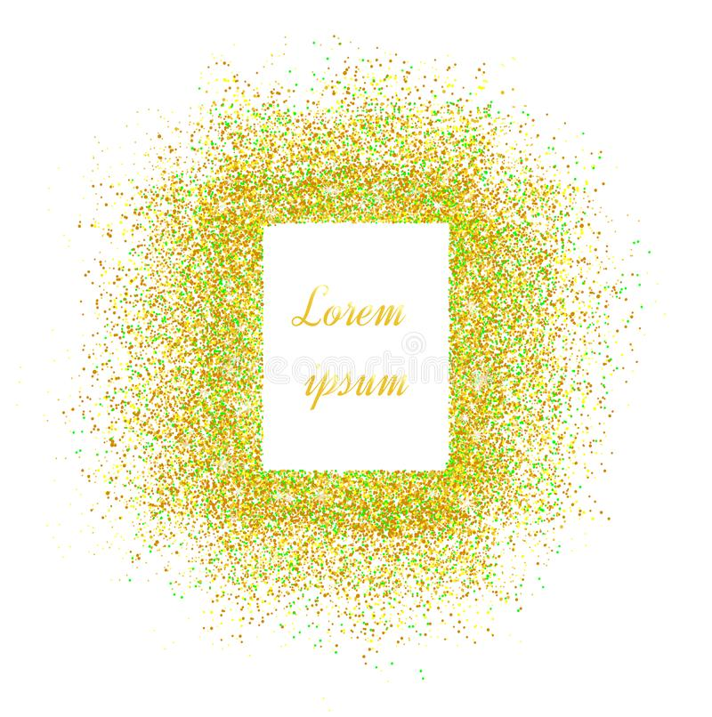 Gold banner. Gold sparkles on pink background. Banners logo, ca vector illustration
