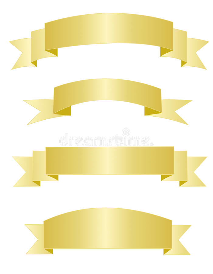 Gold banners royalty free illustration