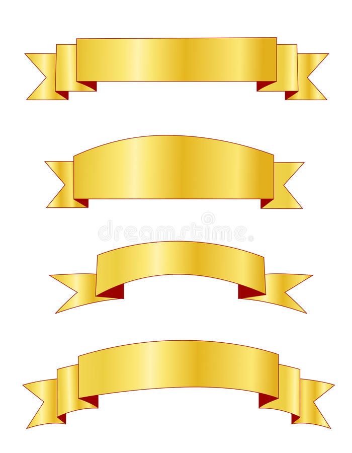 Gold banners / banner stock illustration