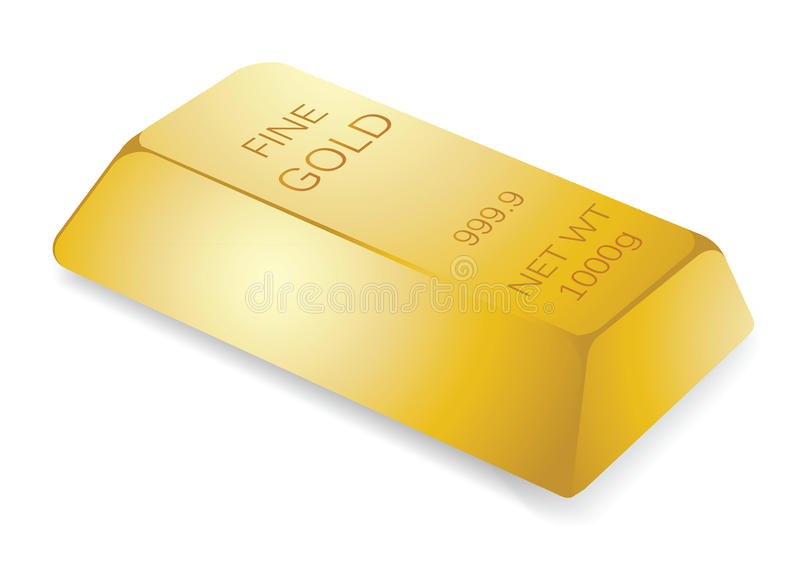 Gold bar. Illustration of gold bar, for financial concept royalty free illustration