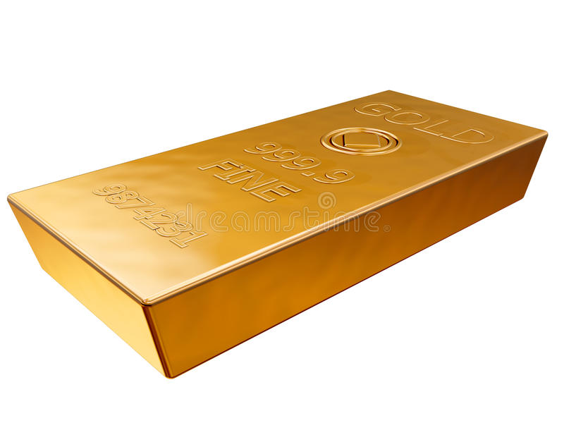 Download Gold bar stock illustration. Image of bank, treasure - 22676618