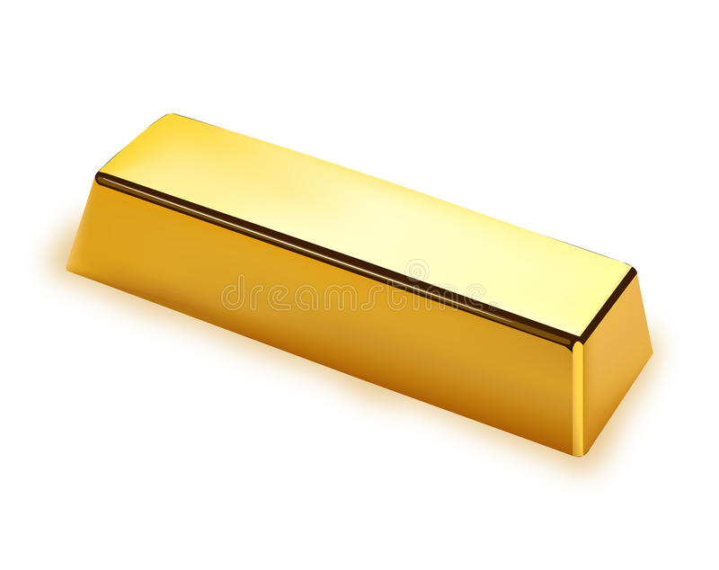 Gold bar. Isolated on white background vector illustration