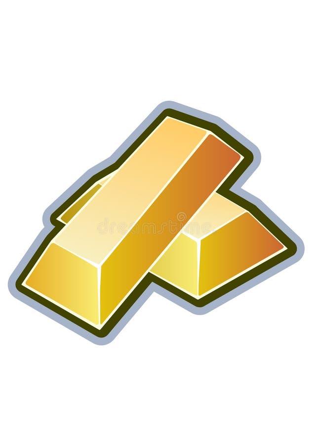 Gold bar. Vector illustration on a white vector illustration