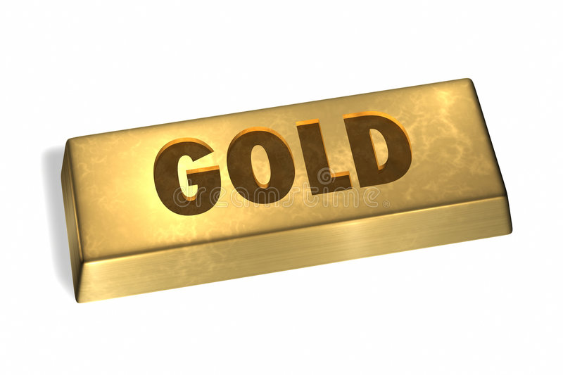 Gold Bar. With gold sign royalty free illustration