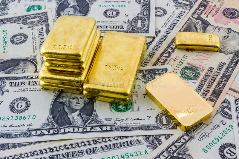 Gold bar. royalty free stock photo