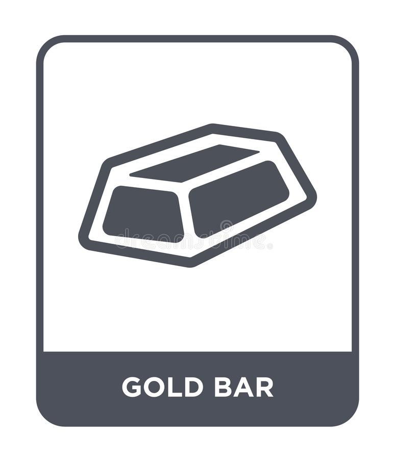 Gold bar icon in trendy design style. gold bar icon isolated on white background. gold bar vector icon simple and modern flat. Symbol for web site, mobile, logo vector illustration