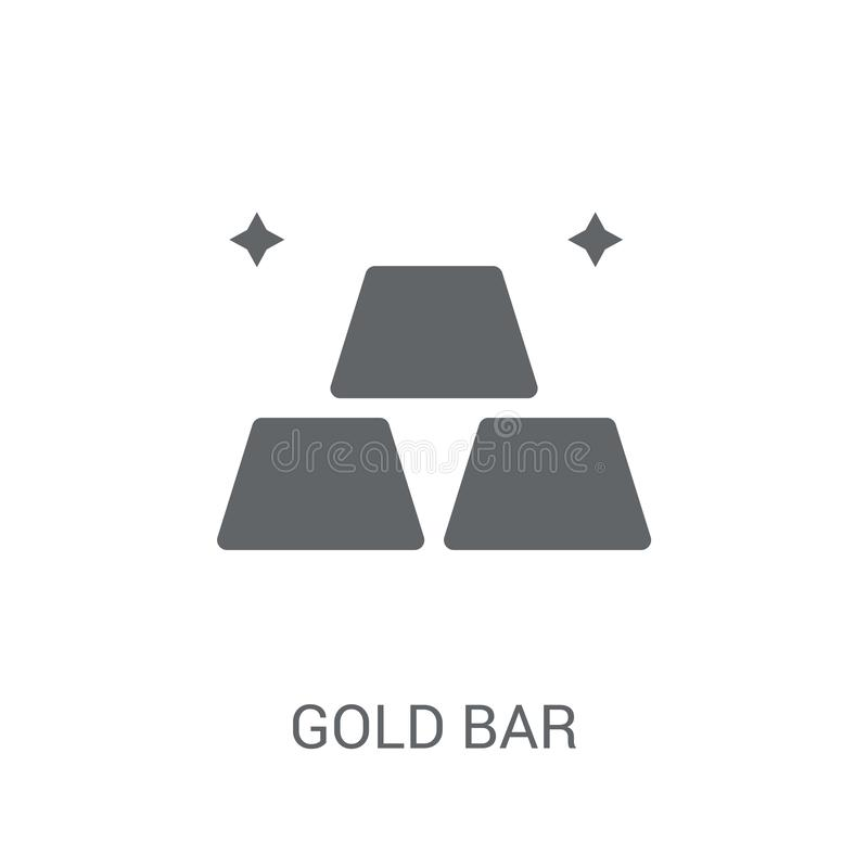 Gold bar icon. Trendy Gold bar logo concept on white background. From Luxury collection. Suitable for use on web apps, mobile apps and print media royalty free illustration