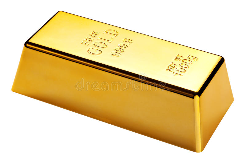 Download Gold Bar Isolated With Clipping Path Stock Image - Image: 13462109