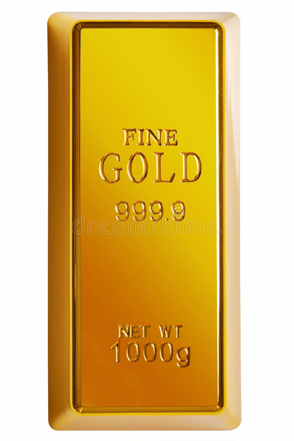 Download Gold Bar Isolated With Clipping Path Stock Photo - Image: 14235992