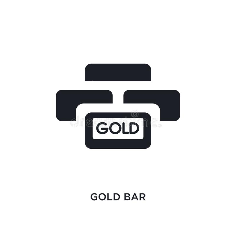Gold bar isolated icon. simple element illustration from luxury concept icons. gold bar editable logo sign symbol design on white. Background. can be use for stock illustration