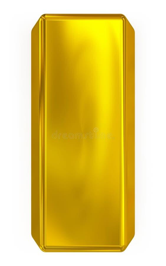 Gold bar. Isolated on white background royalty free illustration