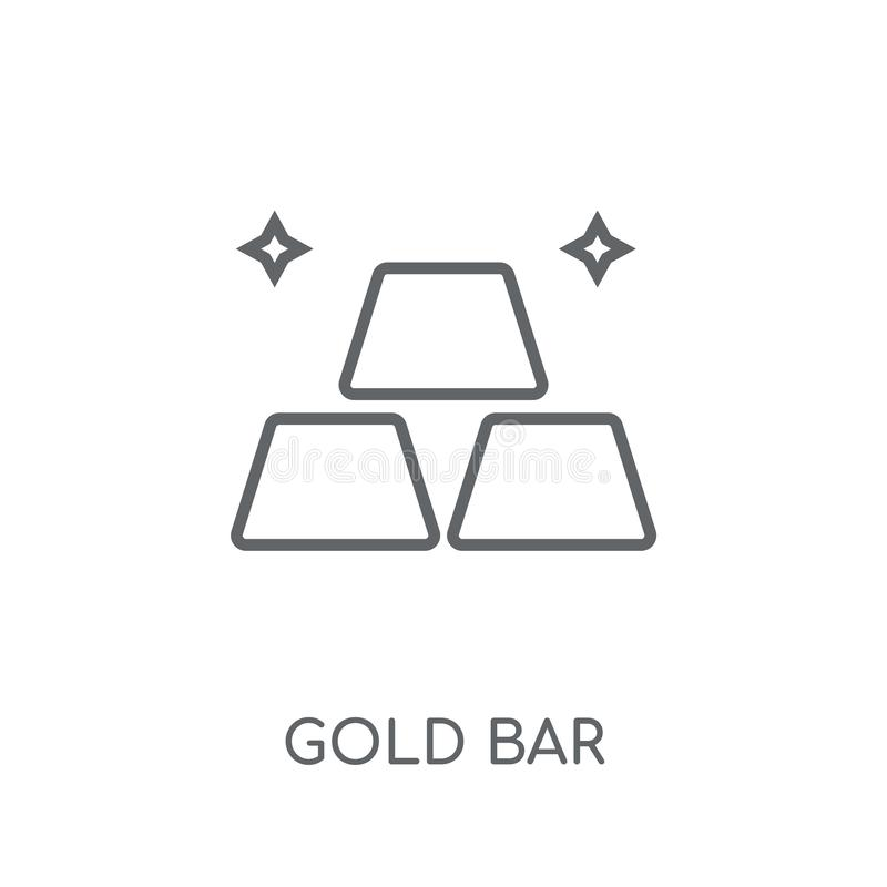 Gold bar linear icon. Modern outline Gold bar logo concept on wh. Ite background from Luxury collection. Suitable for use on web apps, mobile apps and print vector illustration