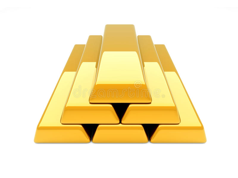 Download Gold Bar Pyramid Royalty Free Stock Image - Image: 16711796