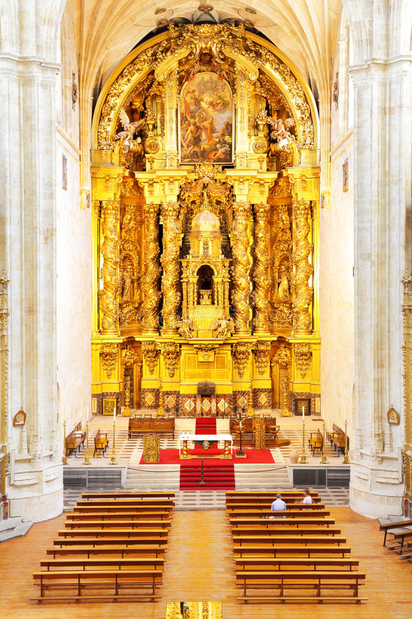 Gold baroque altar stock image