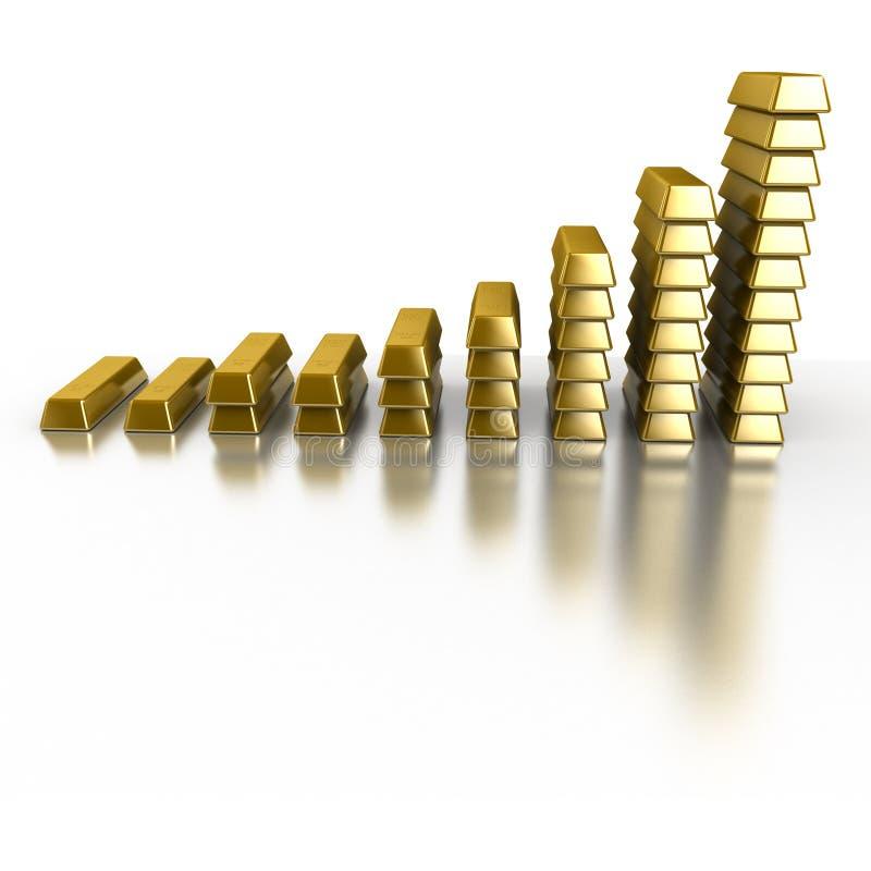 Download Gold Bars stock illustration. Illustration of precious - 10375900