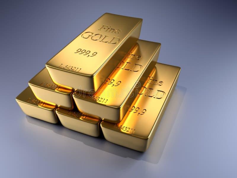 Download Gold bars stock illustration. Image of pose, pyramid - 13109005