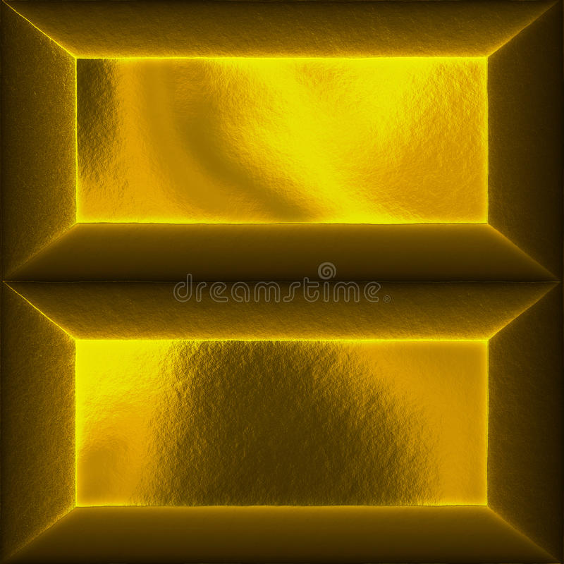 Gold bars. An illustration of two gold bars royalty free illustration
