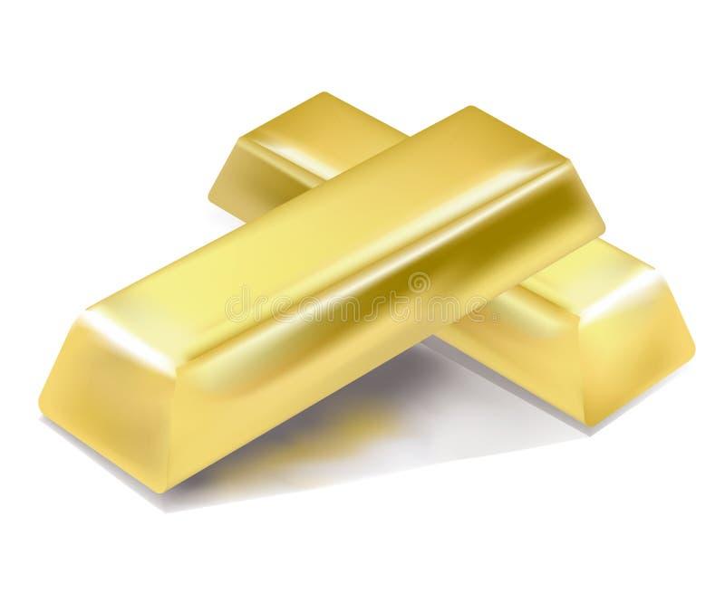 Gold bars royalty free illustration