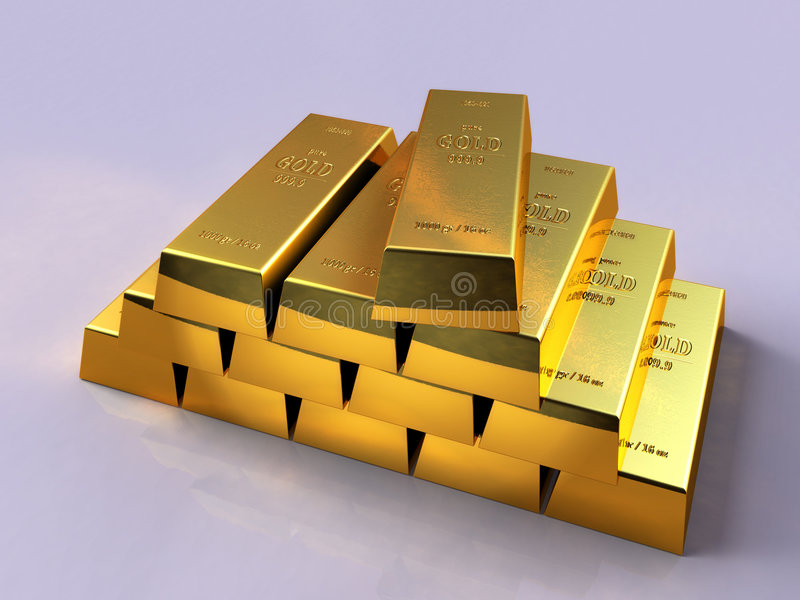 Download Gold bars stock illustration. Image of wealth, value, rich - 4550353