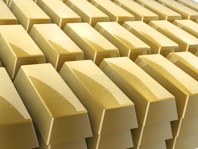 Download Gold bars stock illustration. Image of over, idiom, market - 4698725