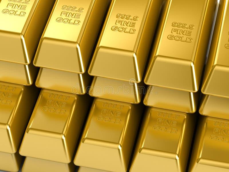 Download Gold Bars stock illustration. Illustration of fortune - 4839409