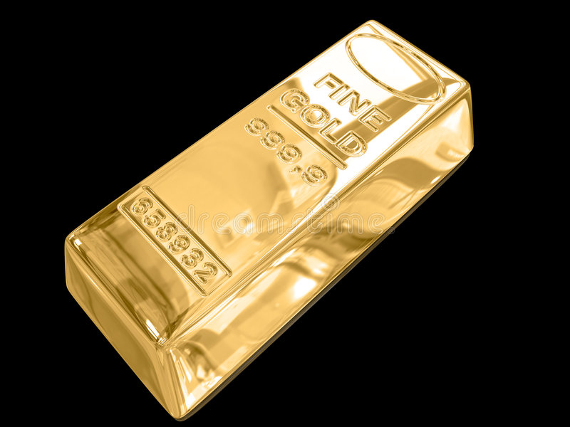 Download Gold bars. stock illustration. Image of gold, macro, luxury - 7282267