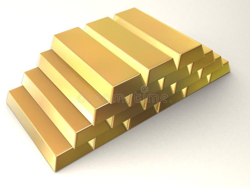 Gold bars stock illustration