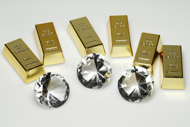 Download Gold bars and diamonds stock photo. Image of property - 20891010