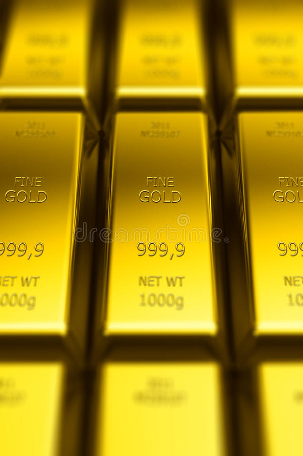 Download Gold Bars (with DOF Effect) Stock Illustration - Image: 24831836
