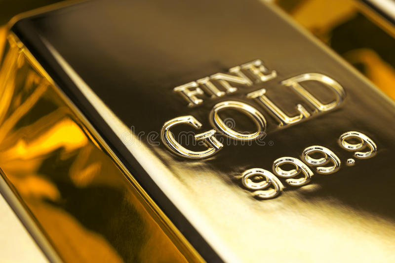 Gold bars and Financial concept royalty free stock image