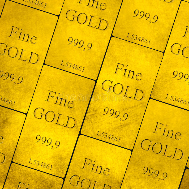 Download Gold Bars Stack stock image. Image of financial, background - 31545347