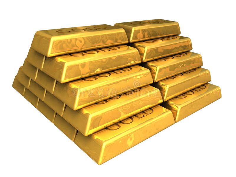 Download Gold Bars Stacked Royalty Free Stock Images - Image: 9193099
