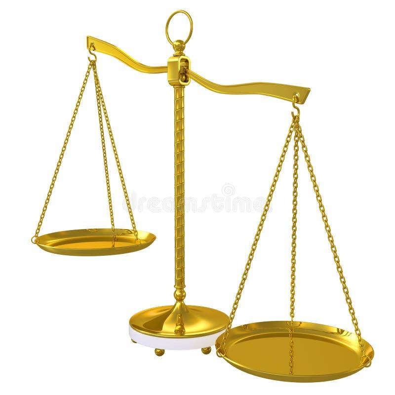 Download Gold beam balance stock illustration. Illustration of fairness - 25305727