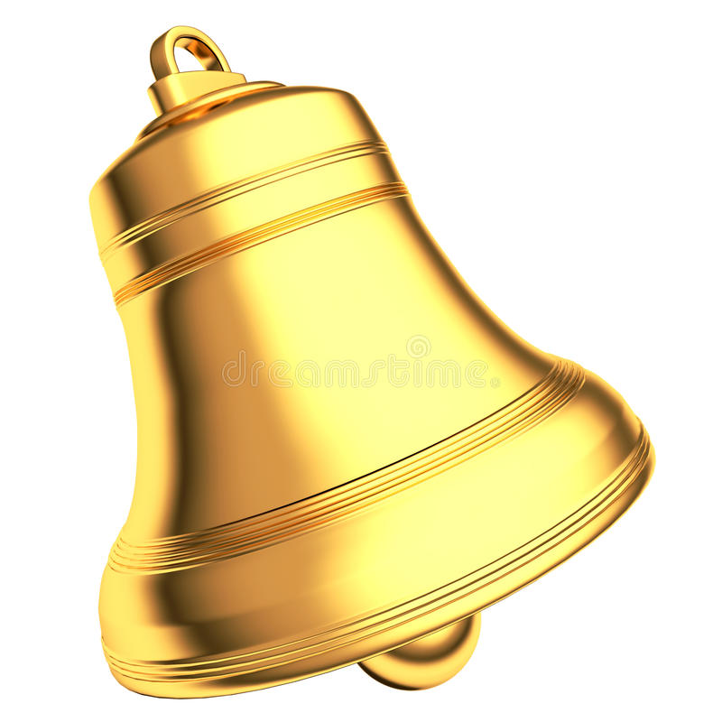 Download Gold Bell Isolated On White Background Stock Illustration - Illustration: 26990124
