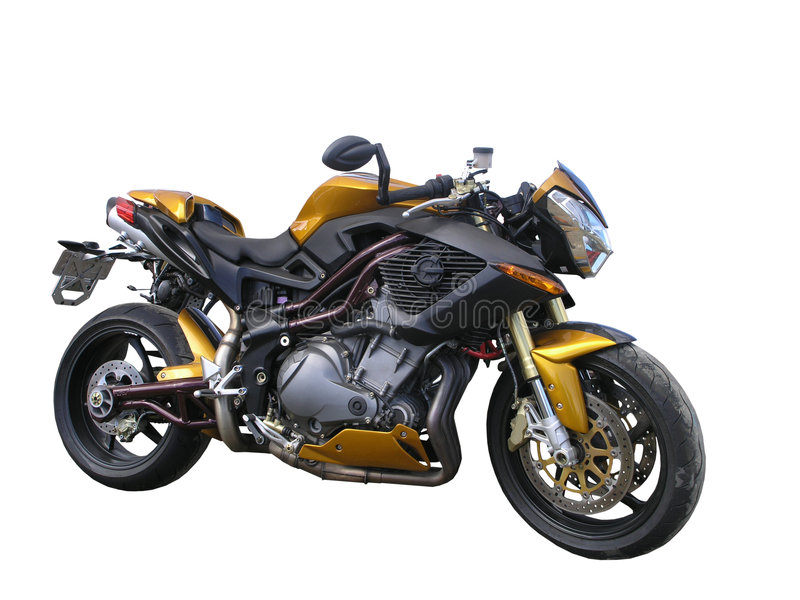 Gold Benelli Motorbike royalty free stock photos