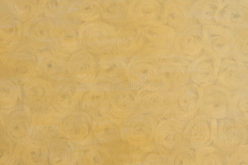 Gold beunruhigt mit rosafarbenem Blumenmuster-Goldhintergrund stockbilder