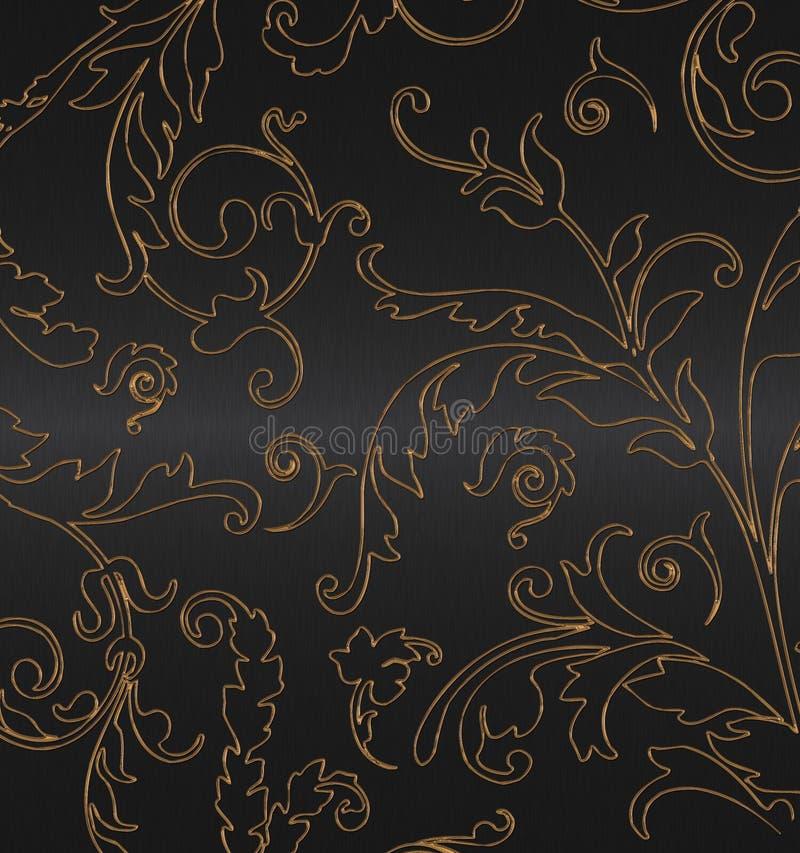 Download Gold on the black stock illustration. Image of elegant - 10845269