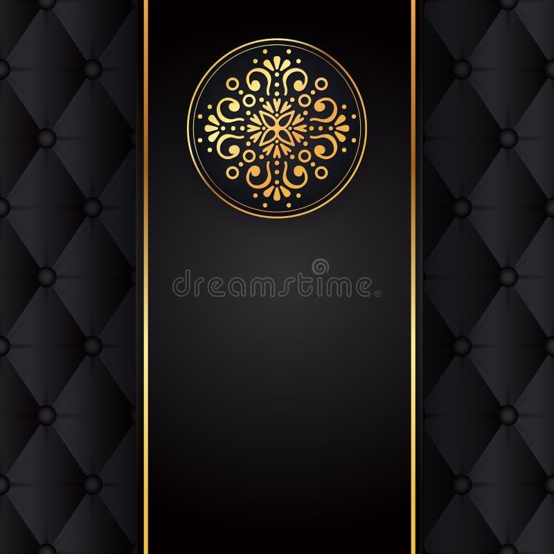 Gold black background design vector. Sun Indian pattern. Eye peacock feather frame. Oriental mandala swirl ornament for stock illustration