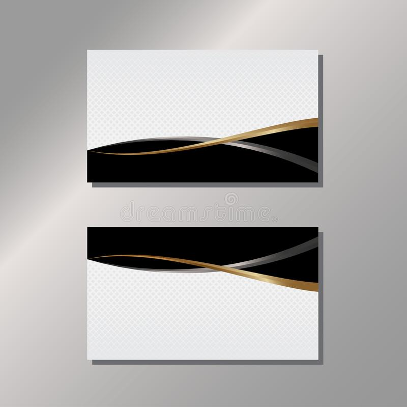 Gold and Black Business Card royalty free illustration