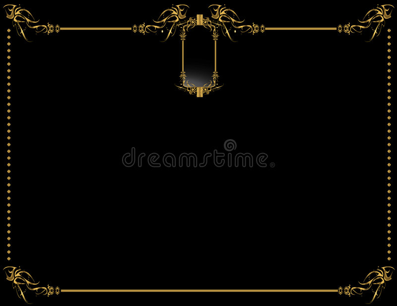 Gold Black elegant background 2 vector illustration