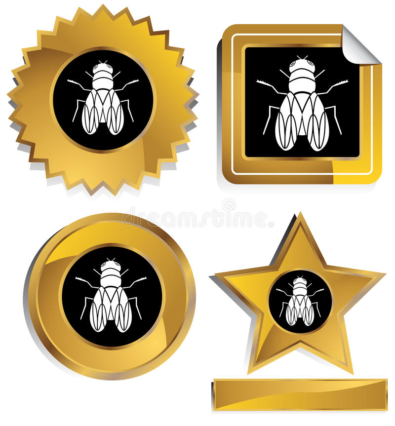 Download Gold and Black - Fly stock vector. Image of insect, housefly - 10179876