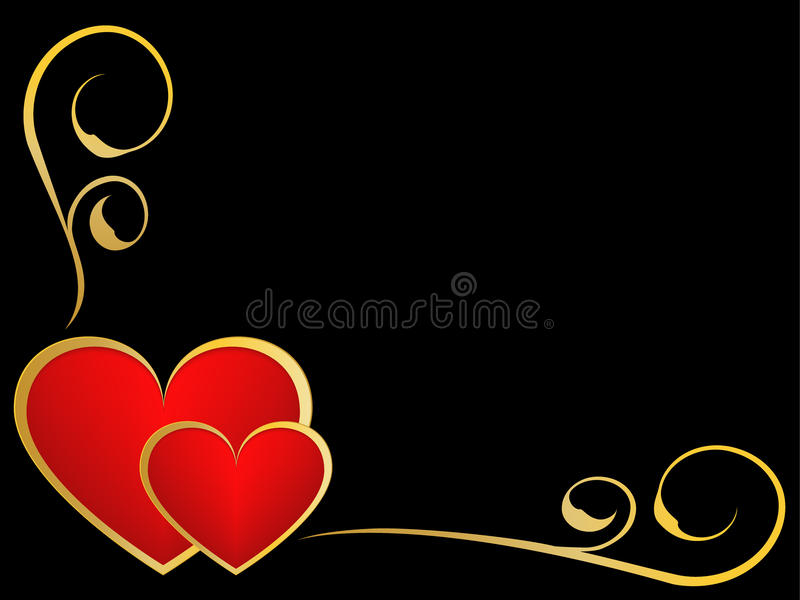 Gold and black love background royalty free stock image