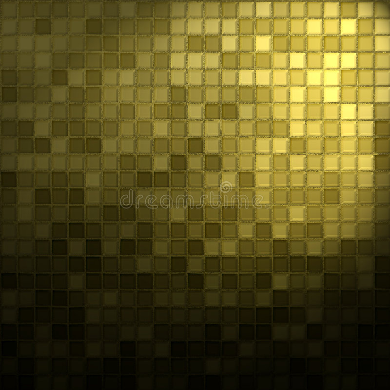 Gold and black mosaic vector illustration