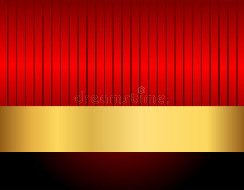 Gold black and red stock illustration