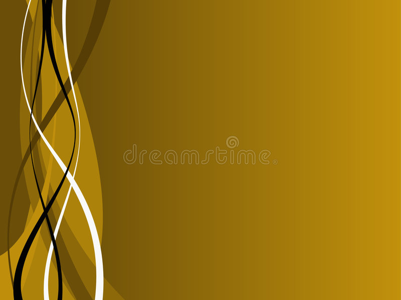 Gold and Black Waves vector illustration